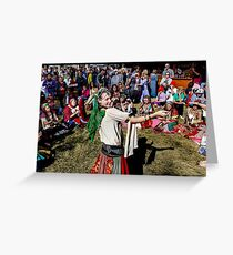 Abbey Medieval Festival 2 Greeting Card