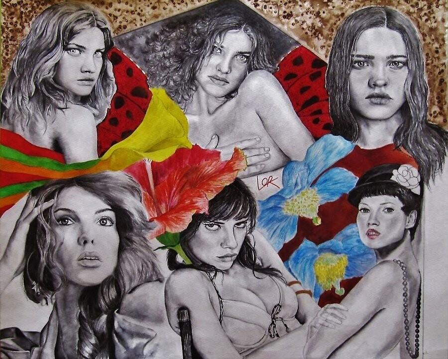 Natalia Vodianova, Daria Werbowy, Adriana Lima & Kate Moss by Laulau4Lor