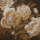 Peonies in Sepia by MysticMeadow