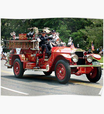 Parade: Antique Firetruck Poster