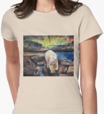 Northern Lights Womens Fitted T-Shirt