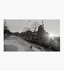 Frozen Amsterdam Photographic Print
