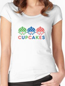 Cupcake Fun primary Women's Fitted Scoop T-Shirt