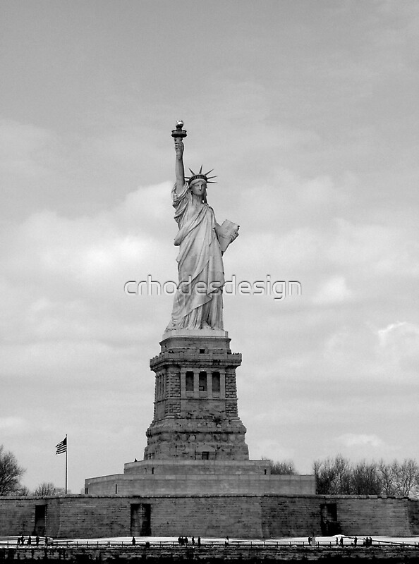 Quot Statue Of Liberty New York Black And White Quot By