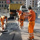 Street Workers in Florencia by Randy Sprout