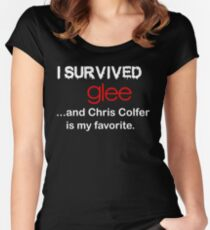 I survived glee...and Chris Colfer is my favorite. Women's Fitted Scoop T-Shirt