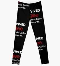 I survived glee...and Chris Colfer is my favorite. Leggings