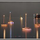 Boats in the bay by vshashidharan