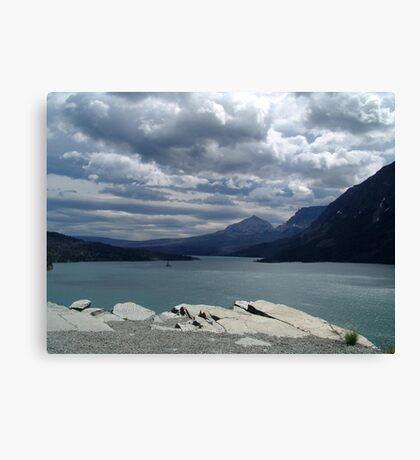 Many Glaciers - Glacier National Park Canvas Print