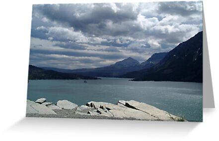 Many Glaciers - Glacier National Park by May Lattanzio
