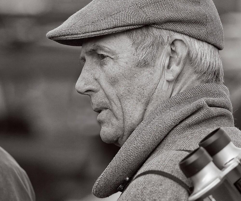 Racegoer in tweeds by David Harrison