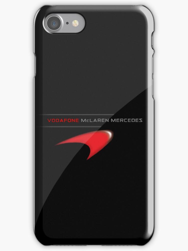 Vodafone McLaren Mercedes iPhone/iPod Case by Simon Kelshaw