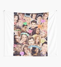 glee cast collage Wall Tapestry