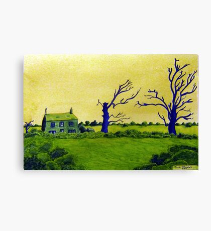 353 - LAVEROCK HALL FARM, NORTHUMBERLAND - DAVE EDWARDS - WATERCOLOUR & COLOURED PENCILS - 2012 Canvas Print