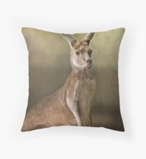 Portrait of a 'roo.... Throw Pillow