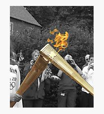 Olympic Torch 'Kiss' Photographic Print