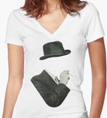 Smoke Women's Fitted V-Neck T-Shirt