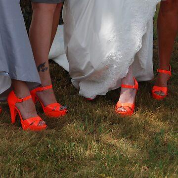 Orange Shoes by vmurfin