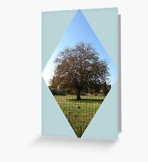 lone tree in autumn Greeting Card