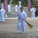 Monks at Work by Sue  Cullumber