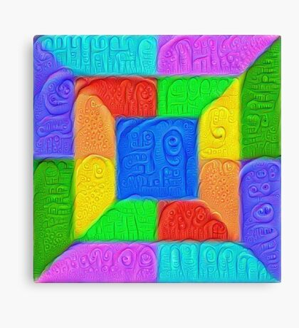 DeepDream Color Squares Visual Areas 5x5K v13 Canvas Print