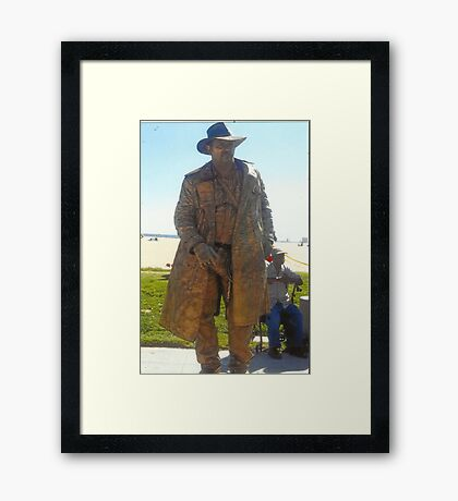 Human Statue Framed Print