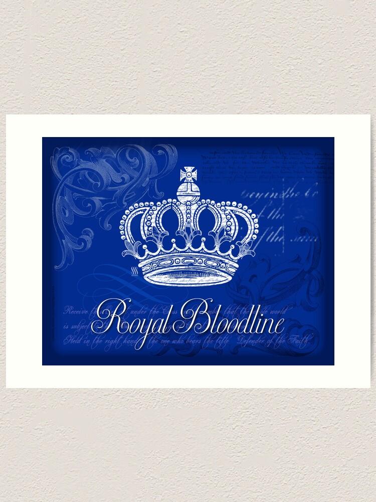Alternate view of Royal Bloodline - Blue Art Print