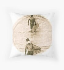 Heading In - Antiqued Throw Pillow