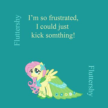 Fluttershy the Frustrated by Rhiaxxify