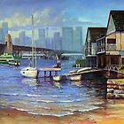 Lavender Bay Boathouse, Sydney Harbour by Fred Marsh