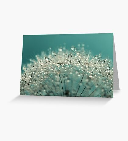 Cyan Sparkles Greeting Card