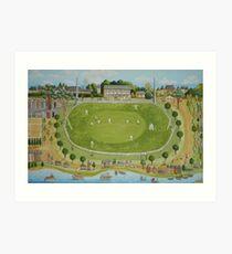 Saturday cricket at Rawson park ,Mosman. Art Print