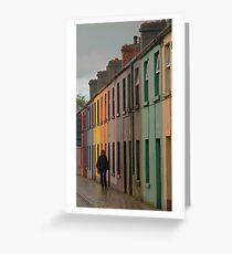 Walking in the Rain, Galway Greeting Card