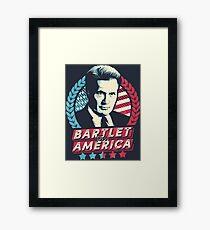 Bartlet for America  Framed Print