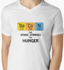 Atomic Symbol for Hunger Mens V-Neck T-Shirt