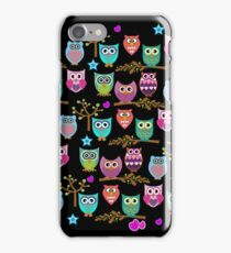 funky owls iPhone Case/Skin