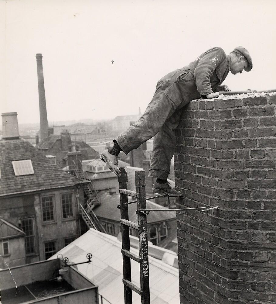 Steeplejack, Trowbridge Factory Chimney by Trowbridge  Museum