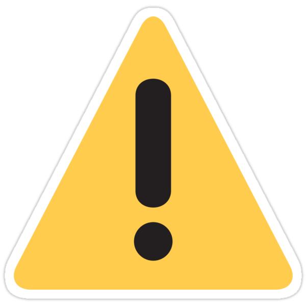 warning sign emoji stickers by winkham redbubble
