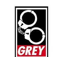 OBEY GREY iPhone/iPod Case by Simon Kelshaw