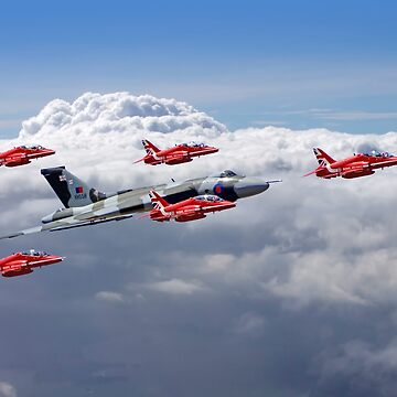 Final Vulcan Flight With The Red Arrows  - 3 by Arrowman