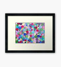 Colored Balls. Framed Print