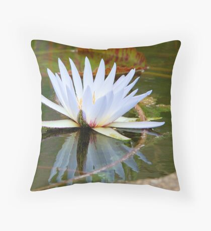 WATER LILLY REFLECTION Throw Pillow