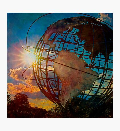 Sunset at the Unisphere Photographic Print