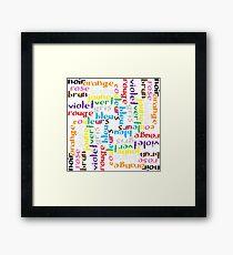 French colour words IV Framed Print