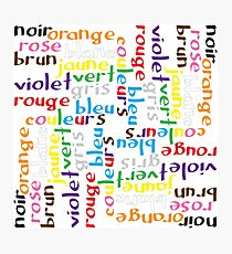 French colour words IV Photographic Print