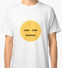 Expressionless face emoji Classic T-Shirt