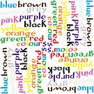 English colour words IV by Morag Anderson