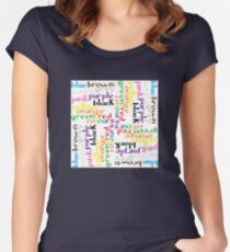 English colour words IV Women's Fitted Scoop T-Shirt