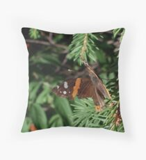 Butterfly Macros: Red Admiral Throw Pillow