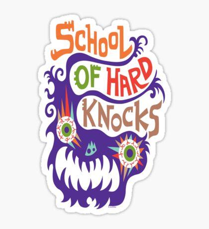 School Of Hard Knocks violet Sticker
